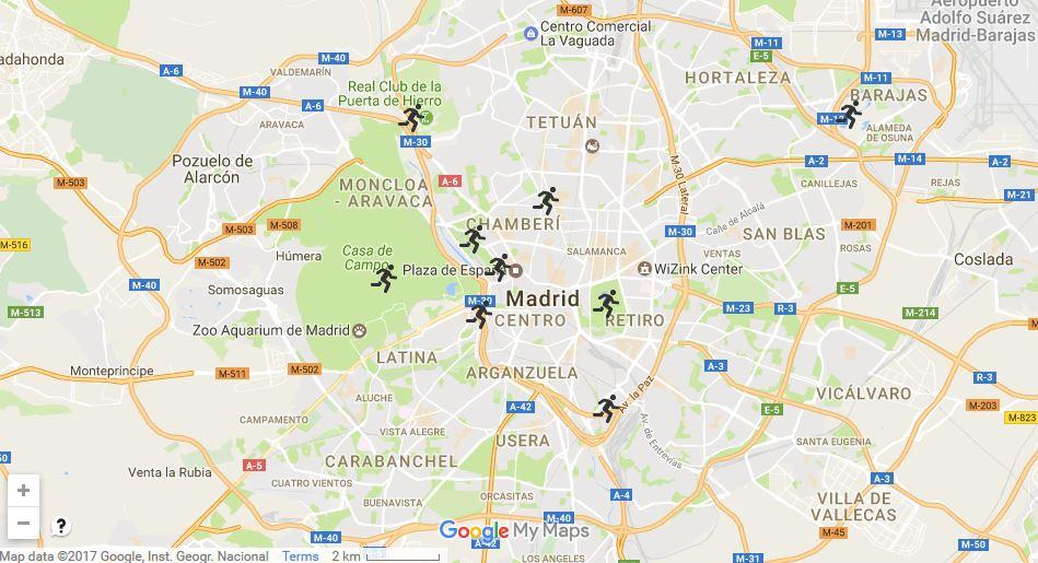 Los mejores espacios para correr en Madrid