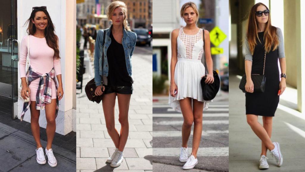 Converse con vestidos cortos